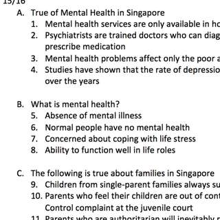HP8003 Mid-terms Are you okay? Mental Health in Singapore