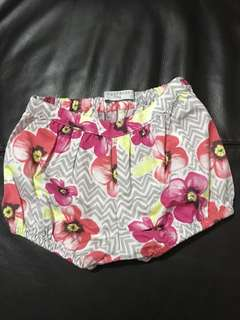 Gingersnaps flowery shorts for babies 9-12mos