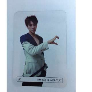ON HAND PHOTOCARD  Monsta X Album Vol. 1 - Beautiful - Transparent PC - MINHYUK