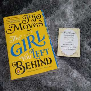 Jojo Moyes' The Girl You Left Behind with Bookmark 😊