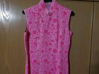 Vintage Pink Cheongsam