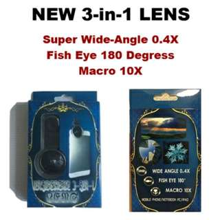 Universal 3 in 1 Lens for Smartphone