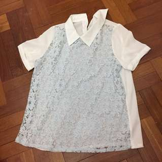 BN Sweet lace collar shirt