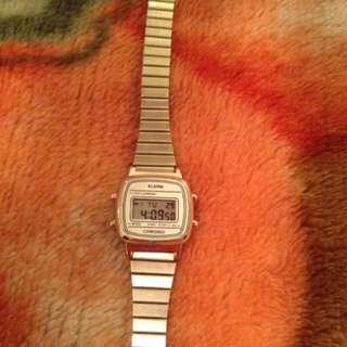 Silver coloured ladies watch (digital)