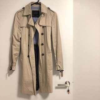 ZARA Women's Long Trench Coat (Size M)