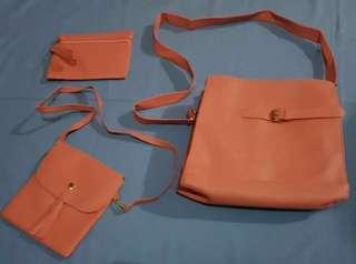 Satu paket tas tas dompet unyu