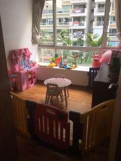 Costzon Baby Play Pen Kids Safety Playpen Activity Center with Floor Foam Mat