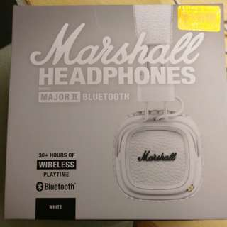 Marshall headphons major 2 白色