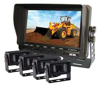 Vehicle Camera System - Truck - Excavator -Lorry - Car - Bus - Coach - Crane Camera system - Reverse Camera System - 7inch TFT LCD Monitor with Rear Camera
