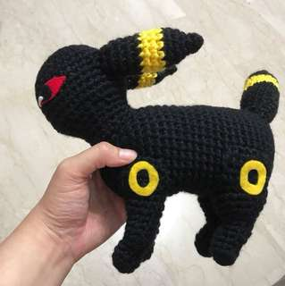 Black knitted kitty