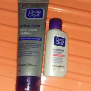 Facial foam and moisturizer