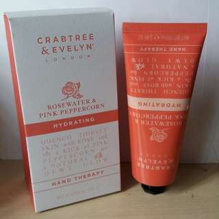 Crabtree & Evelyn Rosewater & Pink Peppercorn Hydrating Hand Cream 100ml