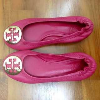 Tory Burch Fuschia Reva Flat Shoes size 10C