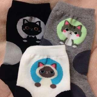 正韓 韓製 超可愛貓咪襪子