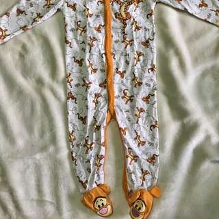 Tiger Footed Onesie