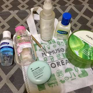ANTI-ACNE SET (garnier cetaphil celeteque mumuso beautybakery thefaceshop everbilena)