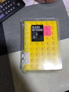 A6 block notebook. Opened to check condition, brand new in box