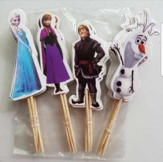 (Sold) 24pcs Disney Princess Frozen Anna  & Elsa Cake/Cupcake/Muffin Toppers for Party Decoration