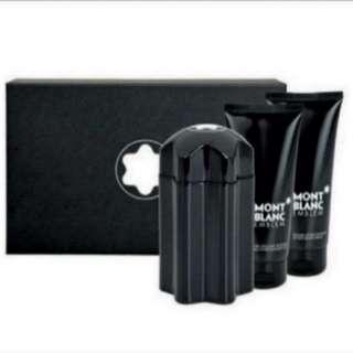(🍩Gift Idea) Mont Blanc Emblem 3 pcs Gift Set