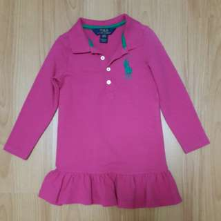 Original pink Polo Ralph Lauren Dress for 3yo