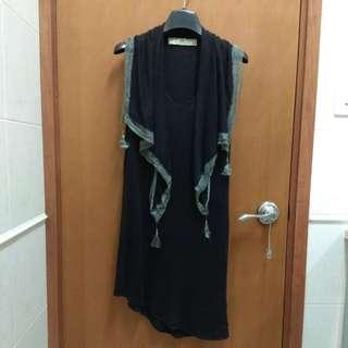 Initial size 2 黑色針織背心