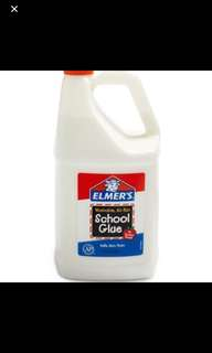 In Stock - Elmer's Liquid School Glue, Washable, 1 Gallon, 1 Count - Great For Making Slime Glue 1 Gallon Washable