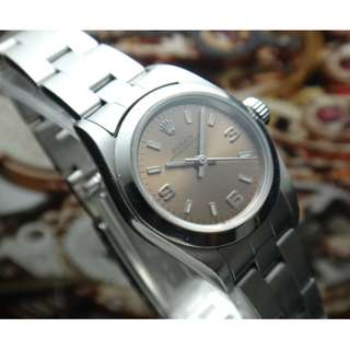 ROLEX 2002 OYSTER PERPETUAL 76080 LADIES WATCH