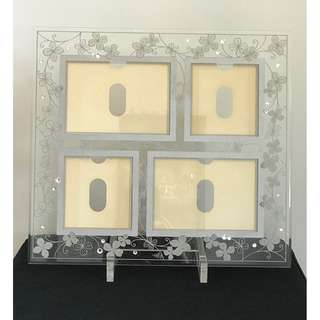Flower & Crystal design glass photoframe
