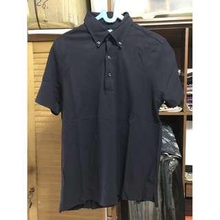 Muji Dark Navy Polo Shirt