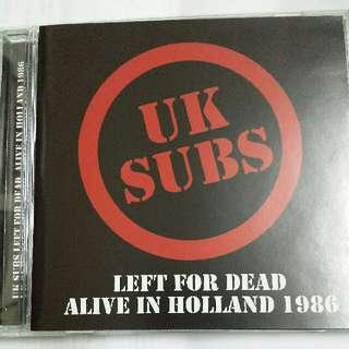 Music CD: UK Subs–Left For Dead - Alive In Holland '86 - UK Punk Band