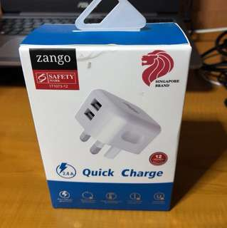 Dual USB Outputs Quick Charge