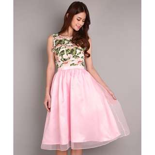 One Set Floral Top + Bow Skirt