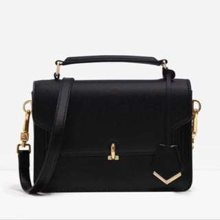 Mini Turn-Lock Bag (Black)