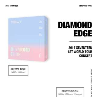 2017 SEVENTEEN 1ST WORLD TOUR (DIAMOND EDGE IN SEOUL) CONCERT DVD