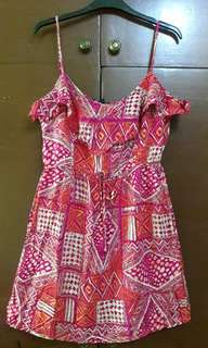 Printed Romper Dress