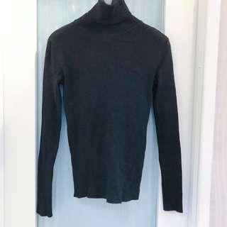 黑色高領針織毛衣打底衫