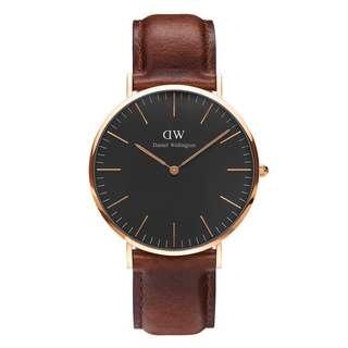 Daniel Wellington Classic Black 36mm watch ( strap Colour optional )