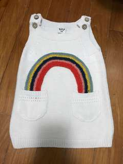 Rainbow knitted dress