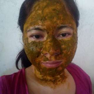 2in1 facial mask and facial scrub w/ 6in1 wonder herbs for a healthier skin
