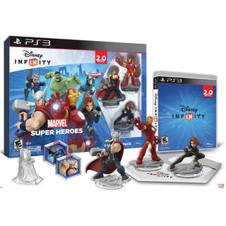PS3 Disney INFINITY: Marvel Super Heroes (2.0 Edition) Video Game Starter Pack (Brand New & Sealed)