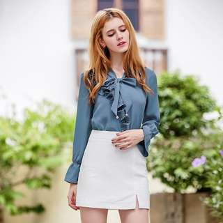 Office lady long sleeves blouse