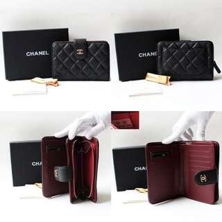 Chanel Classic Caviar Short Wallet