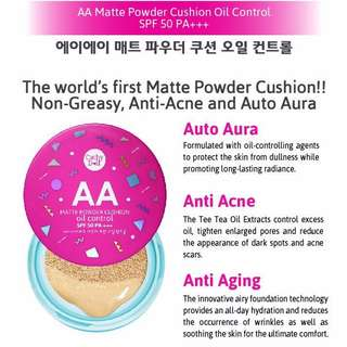 Cathy Doll AA Matte Powder Cushion Oil Control SPF50 PA+++ 15g