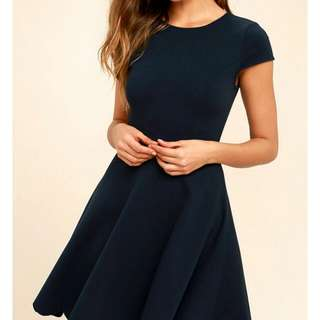 BNWT Navy Blue Cotton On Skater Dress
