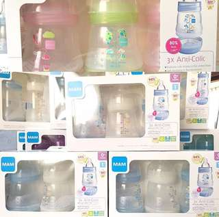 MAM anti-colic feeding bottles 5oz