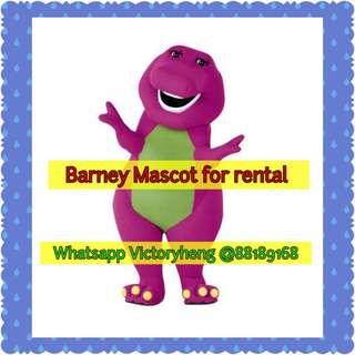 Barney Mascot for rental