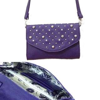 New:freeSF U.S Grace Adele purple sling bag