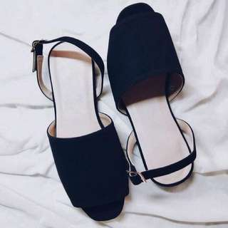 Repriced. Black suede flats sizes 6&9
