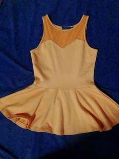Shopaholic Orange Peplum Top