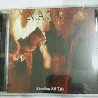 Music CD: Nails–Abandon All Life - Metal, Grindcore, Hardcore, Southern Lord Records